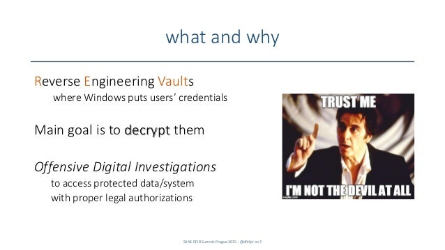 ReVaulting! Decryption and opportunities Slide 3