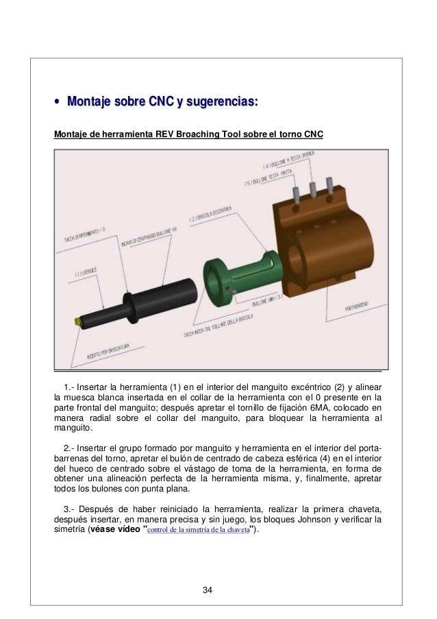 •• MMoonnttaajjee ssoobbrree CCNNCC yy ssuuggeerreenncciiaass:: Montaje de herramienta REV Broaching Tool sobre el torno C...