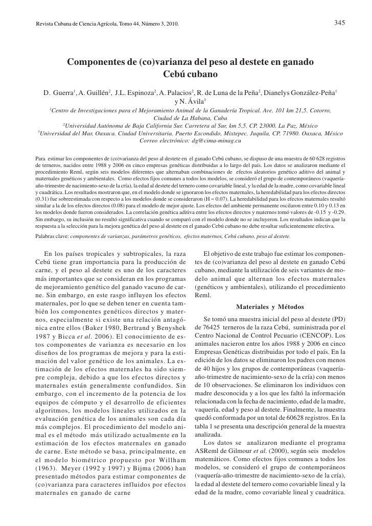 Revista Cubana de Ciencia Agrícola, Tomo 44, Número 3, 2010.                                                              ...