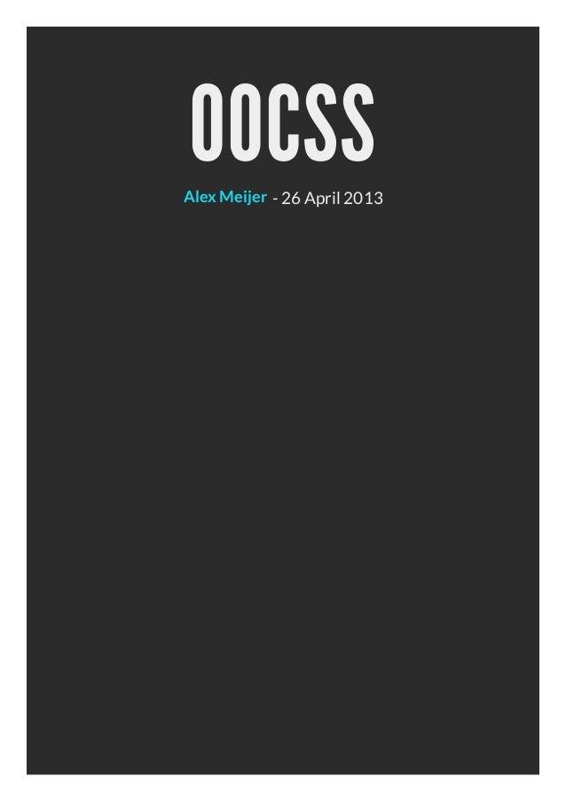 OOCSS- 26 April 2013Alex Meijer