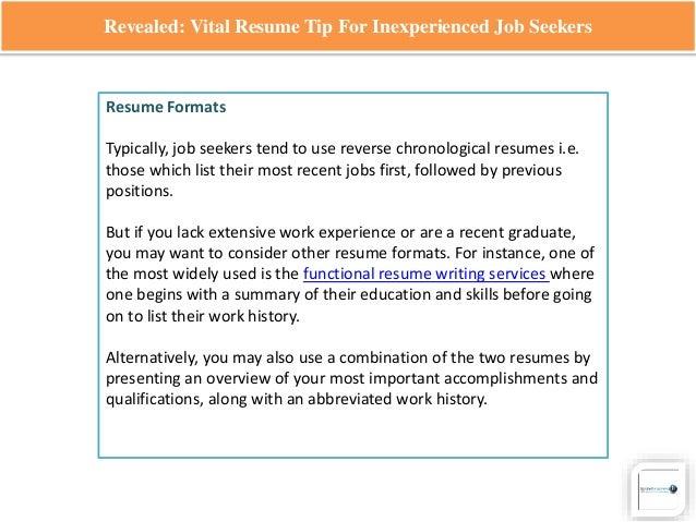 inexperienced resumes