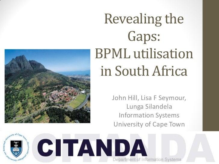 Revealing the      Gaps:BPML utilisation in South Africa  John Hill, Lisa F Seymour,       Lunga Silandela    Information ...
