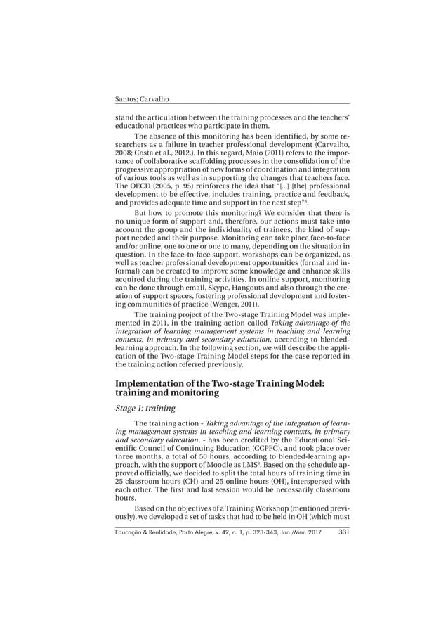 Educação & Realidade, Porto Alegre, v. 42, n. 1, p. 323-343, Jan./Mar. 2017. Santos; Carvalho 331 stand the articulation b...