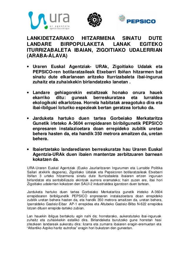 LANKIDETZARAKO HITZARMENA SINATU DUTELANDARE BIRPOPULAKETA LANAK EGITEKOITURRIZABALETA IBAIAN, ZIGOITIAKO UDALERRIAN(ARABA...