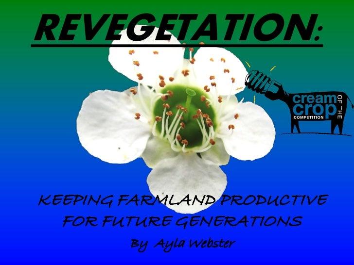 REVEGETATION: