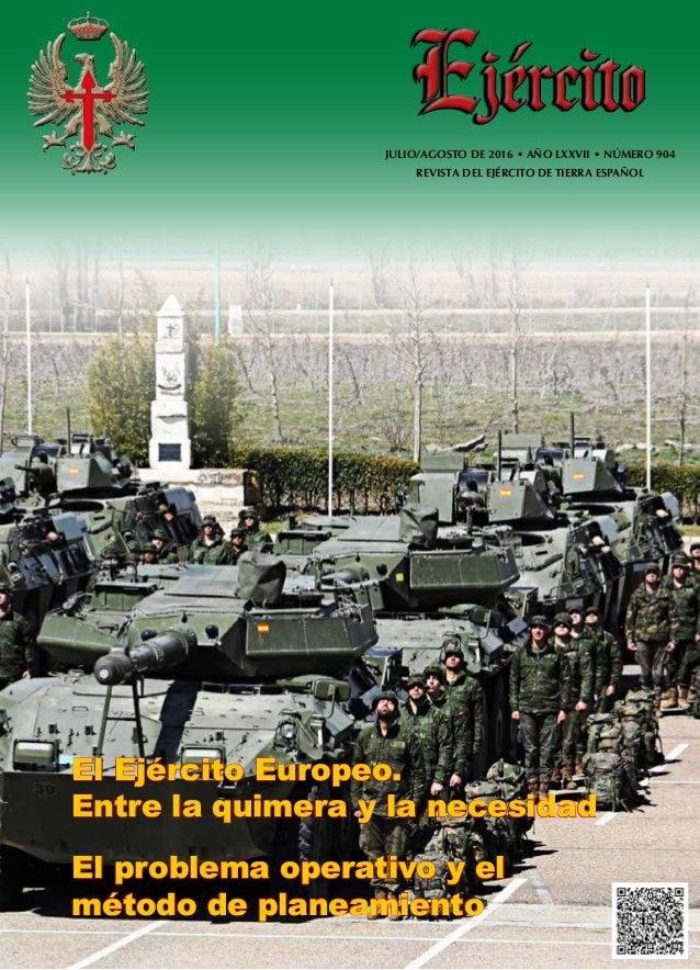 EJÉRCITOJULIO AGOSTO2016-añoLXXVII-núm.904 El Ejército Europeo ... 1952b775837