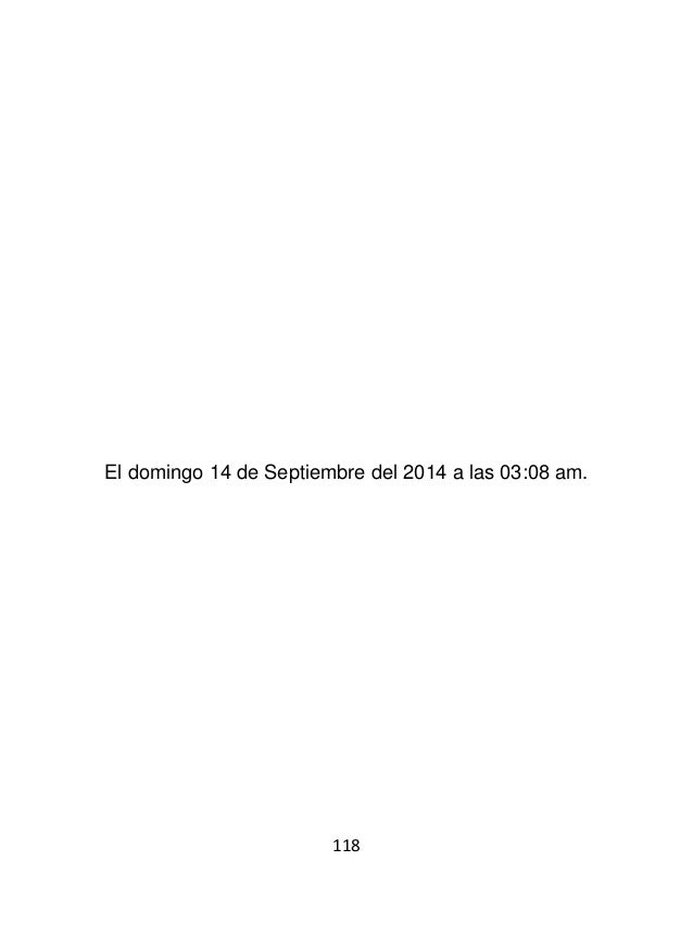 120 El lunes 15 de Septiembre del 2014 a las 12:47 am.