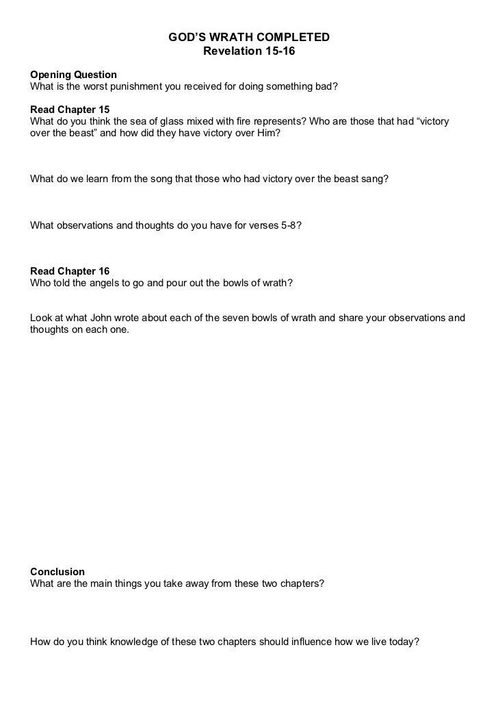 Revelation 15-16 Questions