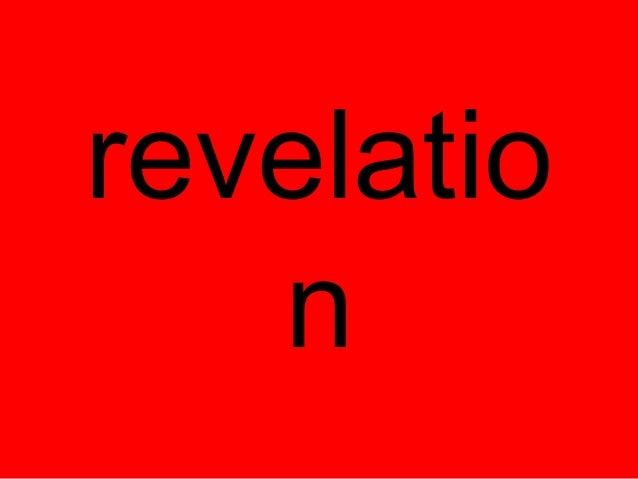 revelatio n