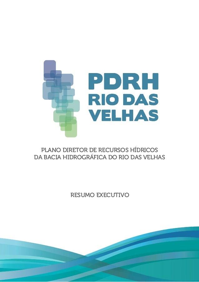 PLANO DIRETOR DE RECURSOS HÍDRICOS DA BACIA HIDROGRÁFICA DO RIO DAS VELHAS RESUMO EXECUTIVO