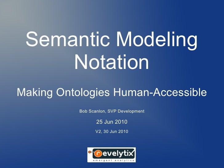 Semantic Modeling     NotationMaking Ontologies Human-Accessible           Bob Scanlon, SVP Development                  2...