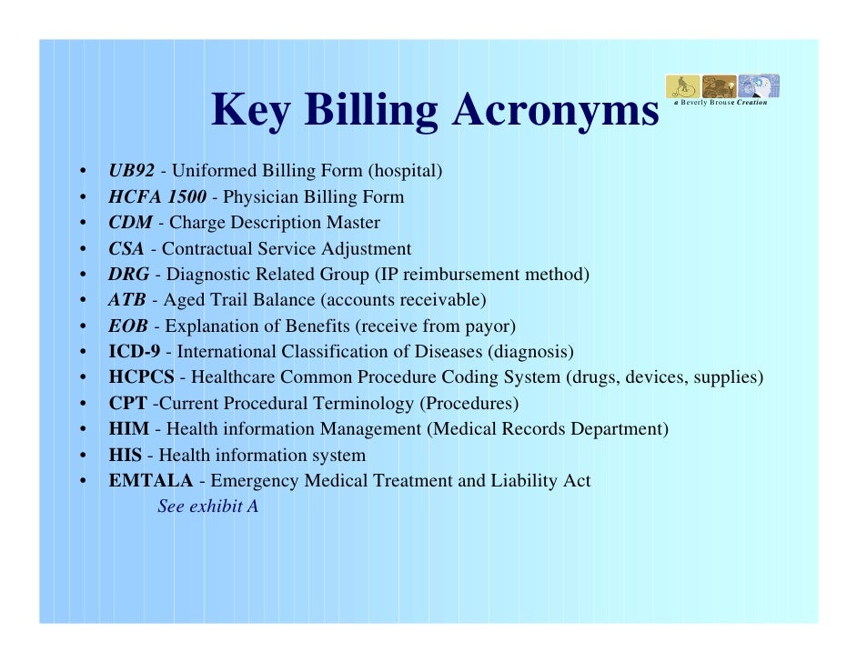 description of medical billing and coding