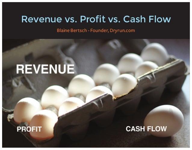 Revenue vs. Profit vs. Cash Flow Blaine Bertsch - Founder, Dryrun.com