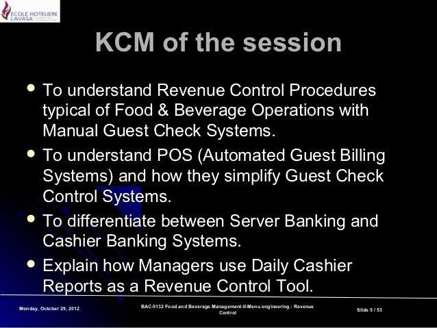 Revenue Control