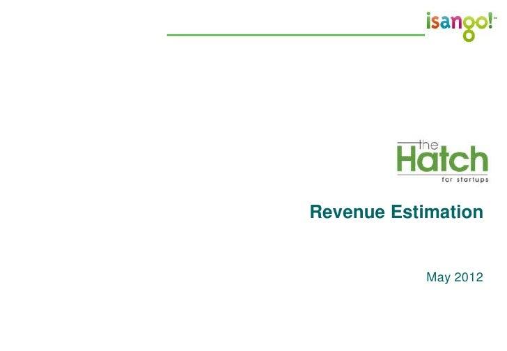 Revenue Estimation            May 2012