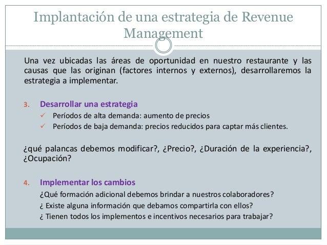 Revenue management aplicado a restaurantes for Implementos de restaurante