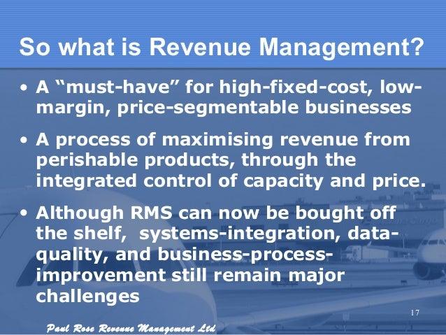 Revenue Management Overview