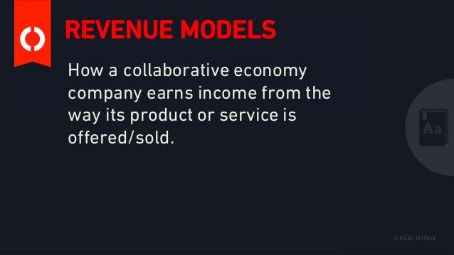 Collaborative Economy Revenue Models Slide 2
