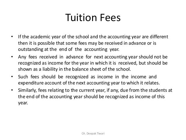 Revenue recognition on education sectors deepak tiwari 3 tuition fees spiritdancerdesigns Image collections