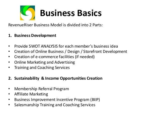 Revenueriser Program Components