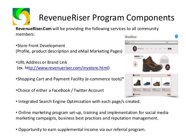 RevenueRiser Program Components How much does it Cost to be a Member of our Community? Community Membership Fee Php4.11 a ...