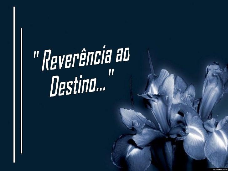 """"""" Reverência ao Destino..."""""""