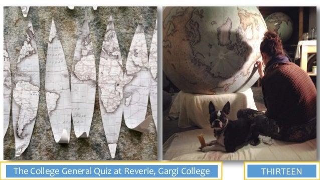 Prelims of the General Quiz at Reverie, Gargi College, 2018