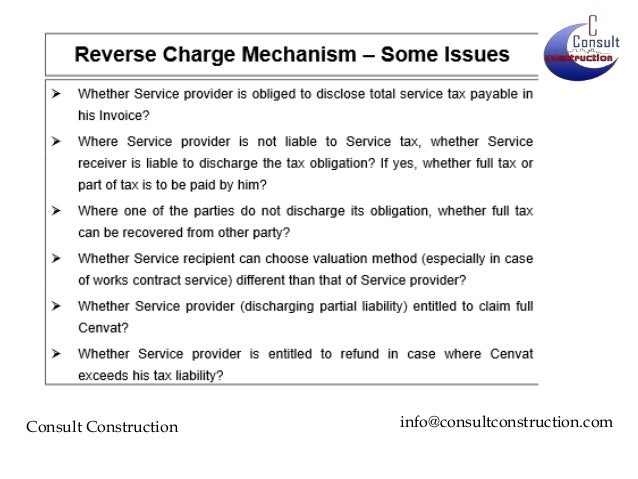 Reverse char... Reverse Charge Mechanism