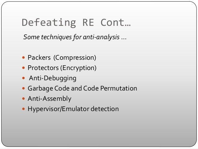 Reverse code engineering