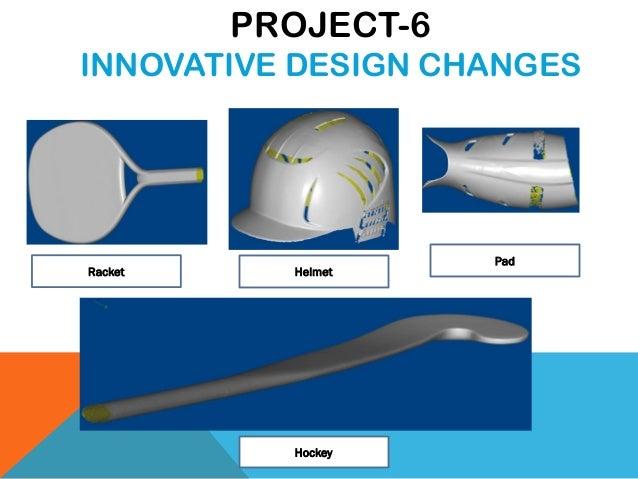 Racket Helmet Pad Hockey PROJECT-6 INNOVATIVE DESIGN CHANGES