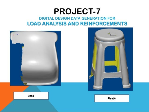 Chair Plastic PROJECT-7 DIGITAL DESIGN DATA GENERATION FOR LOAD ANALYSIS AND REINFORCEMENTS
