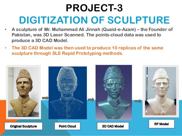 • A sculpture of Mr. Muhammad Ali Jinnah (Quaid-e-Azam) – the Founder of Pakistan, was 3D Laser Scanned. The points-cloud ...