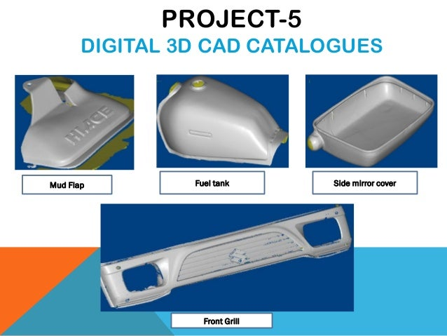 Mud Flap Fuel tank Side mirror cover Front Grill PROJECT-5 DIGITAL 3D CAD CATALOGUES