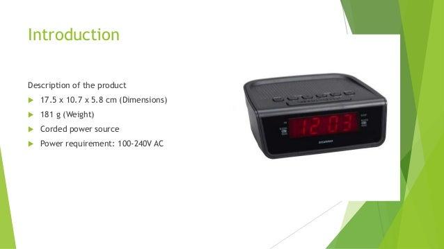 Reverse engineering presentation - Digital Alarm Clock Slide 2