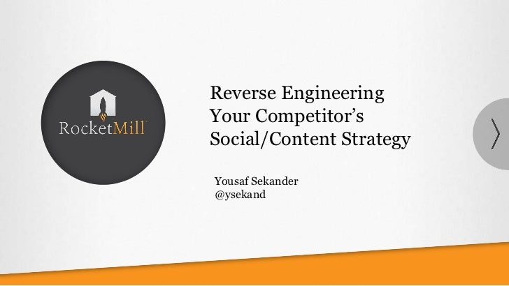Reverse EngineeringYour Competitor'sSocial/Content StrategyYousaf Sekander@ysekand