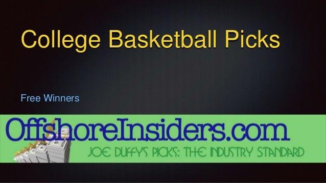 College Basketball Picks Free Winners