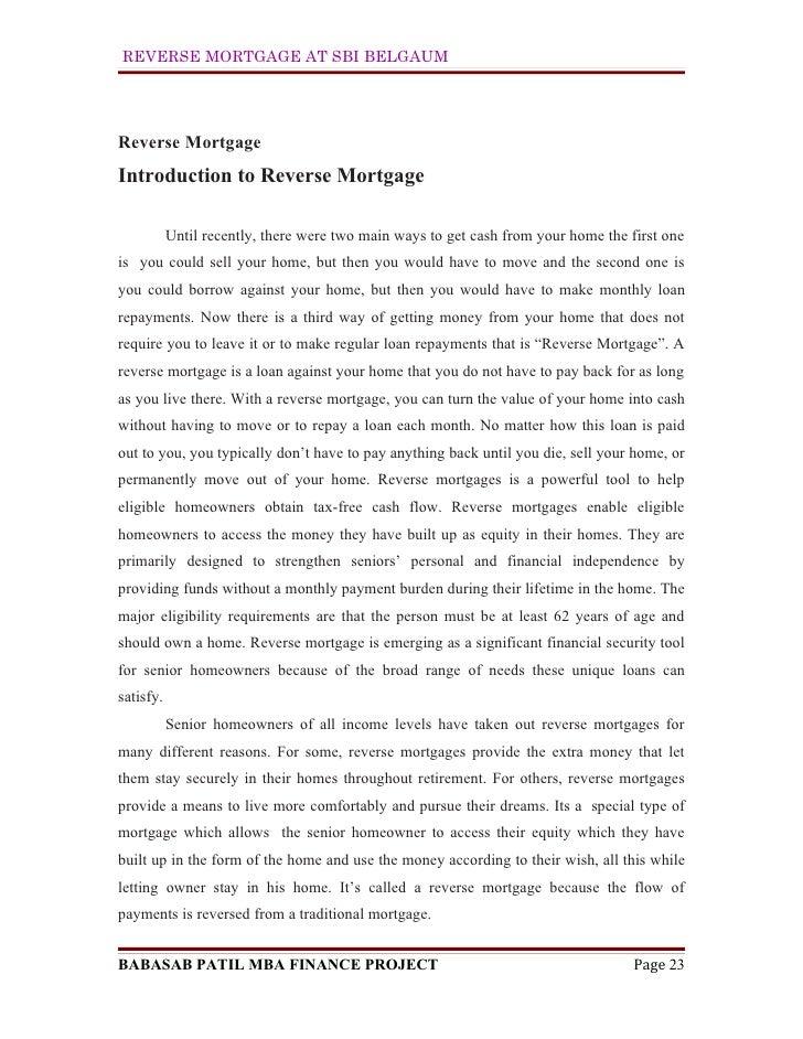 Reverse mort... Reverse Mortgage Sbi