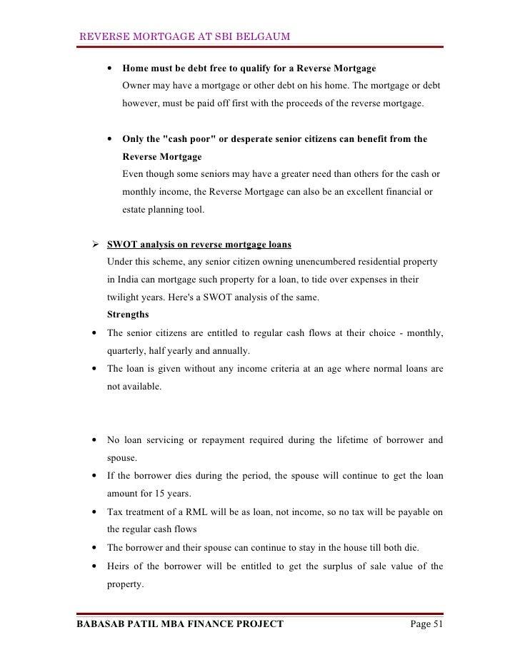 Mortgage Loans Sbi Reverse Mortgage Loan For Senior Citizens