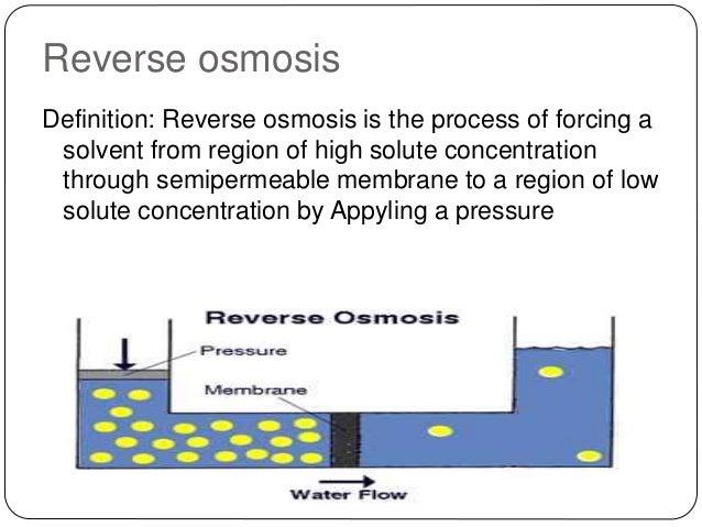 Osmosis Definition Reverse osmosis