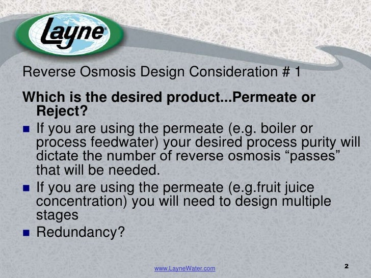 Reverse Osmosis Equipment: 11 Design Parameters to Consider