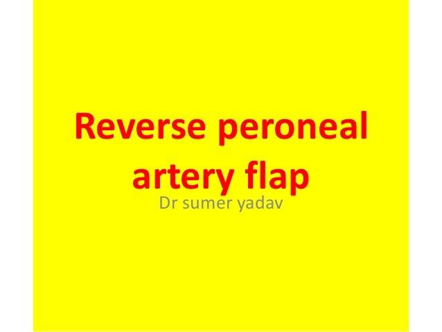 Reverse peroneal artery flap