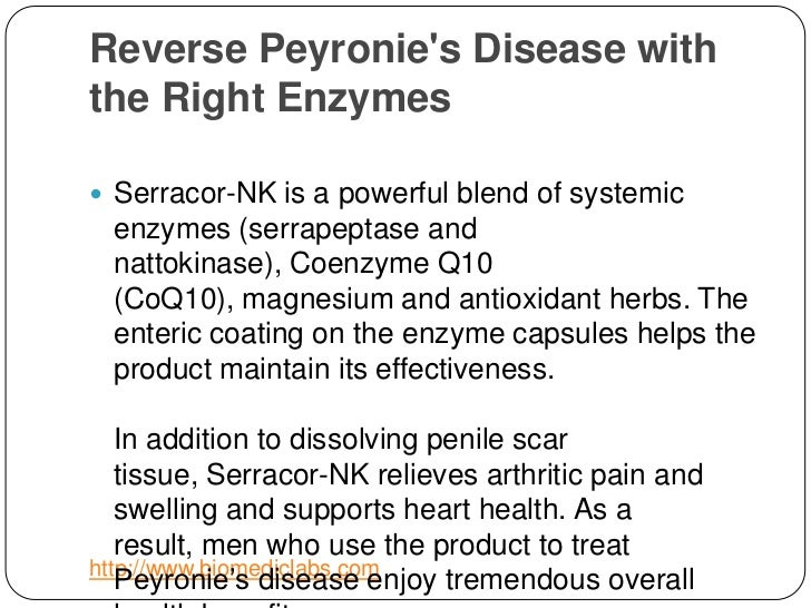 The Right Enzymes For Peyronie S Disease