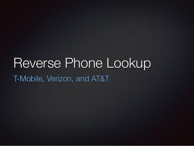 reverse cell phone number lookup att