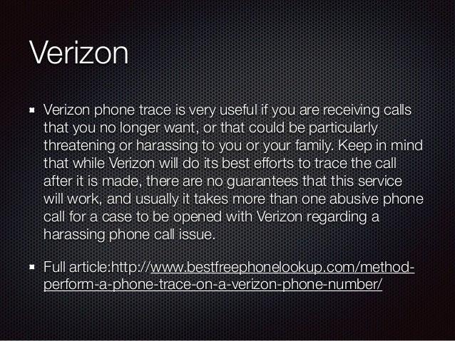 Verizon reverse phone number lookup