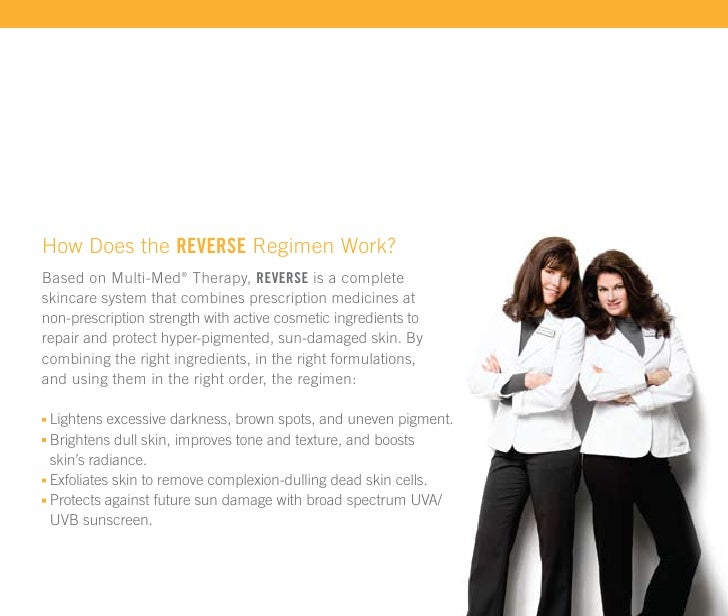 How Does the REVERSE Regimen Work? Based on Multi-Med® Therapy, REVERSE is a complete skincare system that combines prescr...