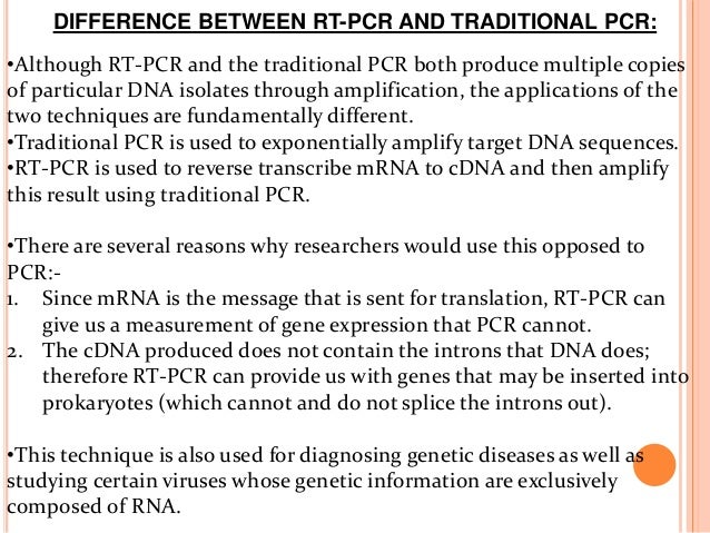 Reverse transcriptase polymerase chain reaction