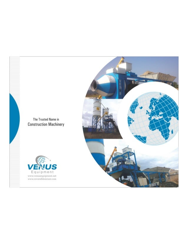 VJAS-ANZ     An ISO 9001:2008 Certified Company          The Trusted Name in Construction Machinery  <§%t « .  VENUS  Indus...
