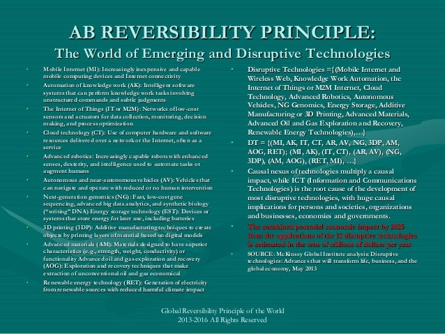 The Key World Law One Must Know  Ab Reversibility