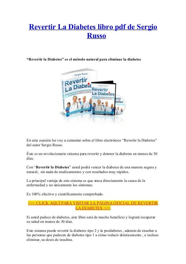 Revertir la Diabetes libro pdf de Sergio Russo
