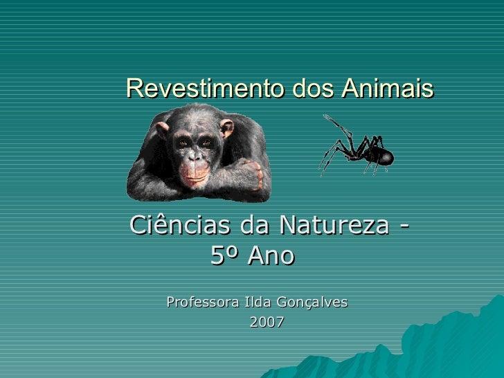 Revestimento dos Animais   Ciências da Natureza - 5º Ano Professora Ilda Gonçalves  2007